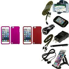For iPod Touch 5th 6th Gen Snap-On Hard Case Phone Skin Cover Accessory + Bundle