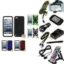 For iPod Touch 5th 6th Gen Hybrid IMPACT Armor Case Phone Cover + Bundle