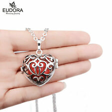 Silver Angel Caller Heart Necklaces Sounds Harmony Ball Mexican Bola Lockets