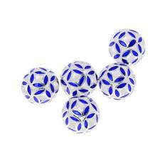 5pcs Copper Blue Round Cloisonne Spacer Beads 10/12/14mm For Jewelry Making