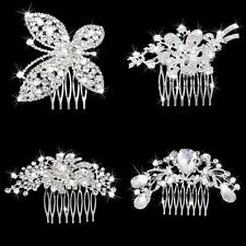 Bridal Hair Comb Crystal Rhinestone Flower Headpiece Hair Clip Wedding Accessory