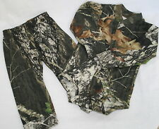 MOSSY OAK CAMO DIAPER SHIRT & PANTS CAMOUFLAGE BABY INFANT SET, BOYS