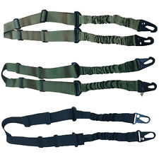 Outdoor Tactical Dual Point Adjustable Bungee Rifle Gun Sling 2-point Strap NEW
