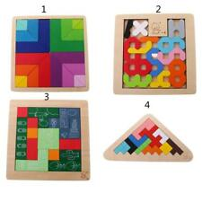 Wooden Puzzle Jigsaw Tetris Toys Wooden Building Blocks Kids Colorful Wood Toys