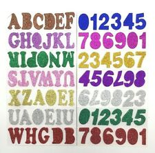 38mm Glitter Alphabet Letters Numbers Stickers Self Adhesive Words Scrapbooking