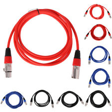 3 Pin XLR Microphone Cable Male To Female Balanced Patch Lead Mic Supply New