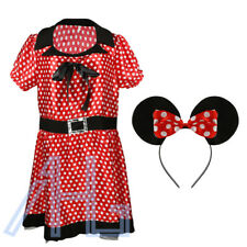 Ladies Missy Mouse Fancy Dress Cosplay Costume Minnie Disney Outfit & Headband