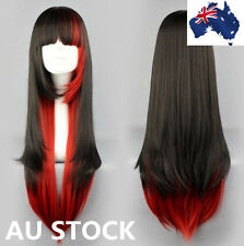 Mix-color Carnival Party Long straight Cosplay Hair Women Fashion Full wigs
