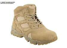"DESERT TAN 6"" Inch Forced Entry Tactical BOOTS Military Six in US Army Navy USMC"