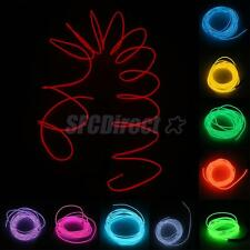 Colorful 5M Neon Glowing Electroluminescent Wire EL Wire with Controller New