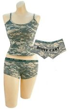 ACU Digital Camo Booty Boy Shorts & Camisole Tank Top SET US Army Panties