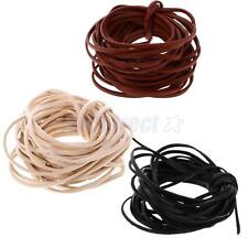 5 Meters x 3mm Flat Leather Cord For Bracelet Beading Jewelry Making DIY Craft