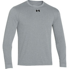 Under Armour Men's HeatGear Long Sleeve Shirt  Keeps You Cool ~GRAY~Sz-Large