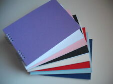 A5 Scrapbook Sketchbooks Photo Guest albums Hardback smooth coloured covers