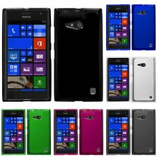 For Nokia Lumia 730 735 Case TPU Rubber Crystal Skin Phone Slim-Grip Cover