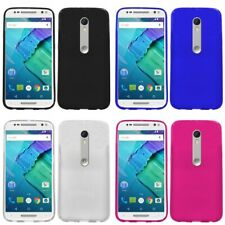 For Motorola Moto X Style Case TPU Rubber Crystal Skin Phone Slim-Grip Cover