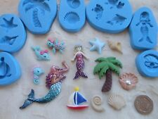1 x Sugarcraft/Fimo MOULD: UNDERSEA / MERMAID (Shell Dolphin Palm Tree Yacht)