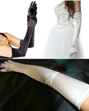 "22"" 54cm Extra Long Over the Elbow Satin Opera Prom Ball Party Evening Gloves"