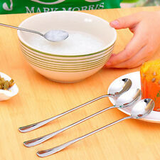 Long Handle Stainless Steel Tea Coffee Spoon Ice Cream Soup Spoons Seraphic