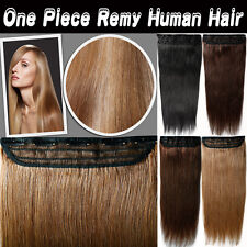 "Glossy One Piece Clip in Remy Human Hair Extensions 16""/18""/20""/22""100g US BS358"