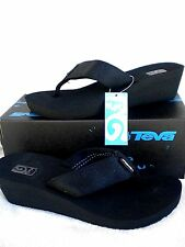 TEVA MUSH Mandalyn Wedge 2 Thong Sandals~Motif Black Out~ Most sizes~NEW 1000938