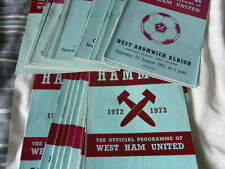 WEST HAM UNITED HOME PROGRAMMES 1971 -3 - SELECT FROM LIST
