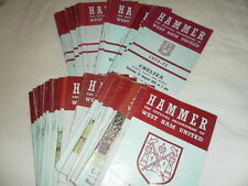 WEST HAM UNITED HOME PROGRAMMES 1969-71 - SELECT FROM LIST