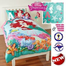 NEW DISNEY PRINCESS ARIEL MERMAID QUILT COVER SET SINGLE DOUBLE QUEEN GIRLS GIFT