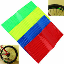 2pcs Bicycle Mountain Bike Reflector Cycling Wheel Rim Reflective Tape Stickers
