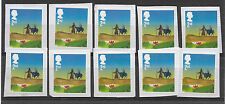 10 GB Unfranked 2015 2nd class security Christmas stamps on paper.