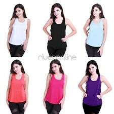 Women Casual Workout Loose Tank Top Sleeveless Sport Gym Fitness T Shirt Blouse