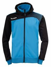 Kempa Mens Emotion Hooded Jacket Full Zip Track Sports Top Training Blue Black