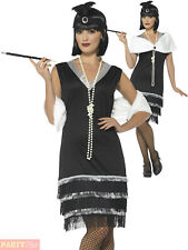 Ladies 1920s Flapper Costume Adults Charleston Fancy Dress Womens Gatsby Outfit