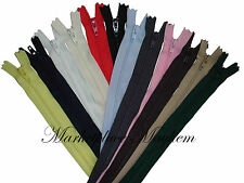 1 X CLOSED END - CUSHION/DRESS/TROUSER/SKIRT ZIP - YKK - SEWING - MANY COLOURS