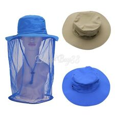 Hiking Fishing Hat Outdoor Sport Sun Mesh Protection Neck Face Flap Boonie Cap