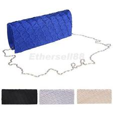Elegant Draped Clutch Evening Party Handbag Envelope Bag Purse for Women
