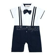 Newborn Kids Baby Boy Infant Outfit Jumpsuit Romper Bodysuit Gentleman Clothes