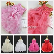 Flower Girl Princess Dress Baby Party Wedding Pageant Formal Baptism Tulle Gown