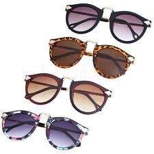 Women's Round Vintage Plastic Lenses Resin Frame Sunglasses Outdoor UV Googles