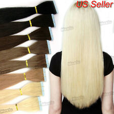 European 100% Remy Straight Tape-in Human Hair Extensions Blonde 60pcs=150g BS28