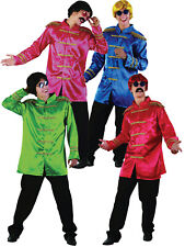 Mens Sergeant Pepper Jacket The Beetles Fancy Dress Sgt Costume 1960s Outfit