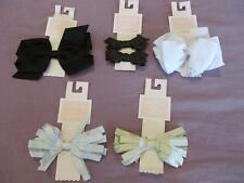 NWT 3 4 5 6 Janie and Jack Holiday Gold Silver Brown Black White Hair Clip Bow