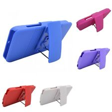 For Motorola Droid Bionic XT875 Hard Slim Matte Case With Belt Clip Holster
