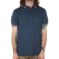 Fred Perry Twin Tipped Polo Shirt - Lake Carbon Oxford