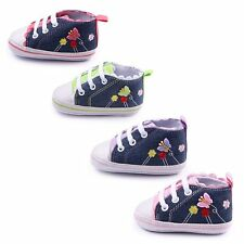 Infant Toddler Baby Girl Slip-on Soft Sole Crib Casual Shoes Canvas Sneaker New