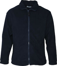 Absolute Apparel Men Adults High Collar Double Stitched Brumal Full Zip Fleece