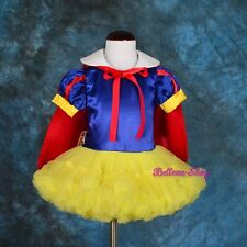 Girl Snow White Dance Costume Fancy Dress + Cape Party Birthday Size 9m-5 FC031