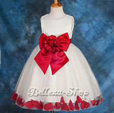 Flower Girl Wedding Occasion Petals Dress Pageant Party Size 18months -7 FG147