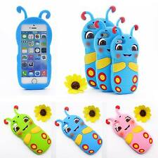 Soft Rubber Silicone Lovely Cartoon Animal Worm Case Cover For Apple iPhone Lot