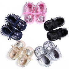 Newborn Baby Girl Boys Tassel Sandals Soft Sole Crib Shoes Anti-slip Prewalkers